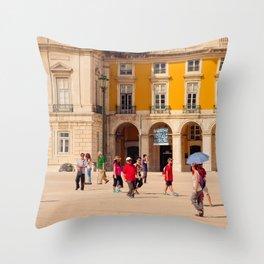 Lisbon Place architecture Throw Pillow