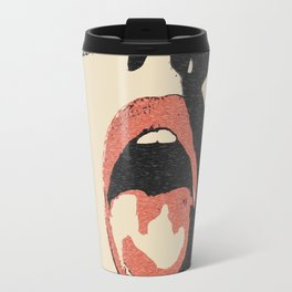 Good girl waits for her dose, submission pop art, sexy lips, erotic, seducing, sensual sketch Travel Mug