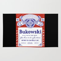 bukowski Area & Throw Rugs featuring bukowski by Mathiole