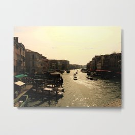 Busy Canals Metal Print