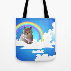 Momma Kitty & Rainbow Bridge Tote Bag