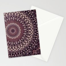 MARSALA MANDALA Stationery Cards