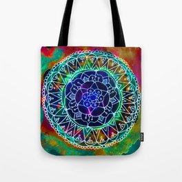 Colorwheel Mandala Teal Tote Bag