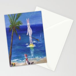 Easter Bunny at the Beach Stationery Cards