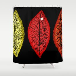 Halloween 3 Leaves Shower Curtain