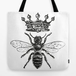 Queen Bee | Black and White Tote Bag