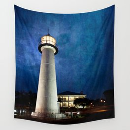 Lighthouse Blues Wall Tapestry