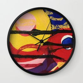 Swirling a chasm Wall Clock