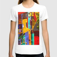buildings T-shirts featuring SkyRainbow Buildings by SkyJay