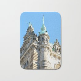 Low angle view of Town Hall in Hamburg Bath Mat