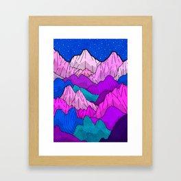 The night time hills Framed Art Print