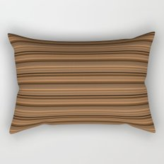 Bronze Tone Stripe Rectangular Pillow
