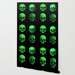 Skull quartet green Wallpaper