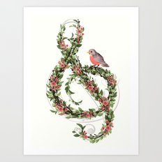 Robin's Song Art Print