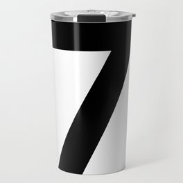 Number 7 (Black & White) Travel Mug