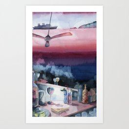 Something about Ernest Hemingway-Watercolor Art Print