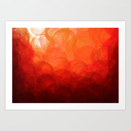 Sunset Globes Art Print