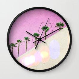 Levitated Mass (Pink) Wall Clock