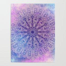 big paisley mandala in light purple Poster
