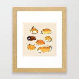 Bread Corgis Framed Art Print