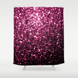 Beautiful Dark Pink glitter sparkles Shower Curtain