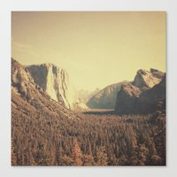 yosemite Canvas Prints featuring Yosemite by nois7