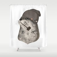 otter Shower Curtains featuring OTTER by Thiago Bianchini