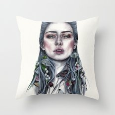 Nature Lady Throw Pillow