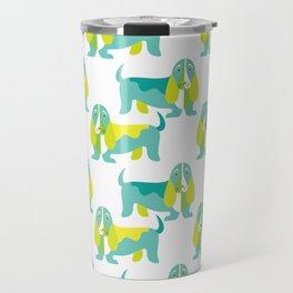 Bertie Basset pattern Travel Mug