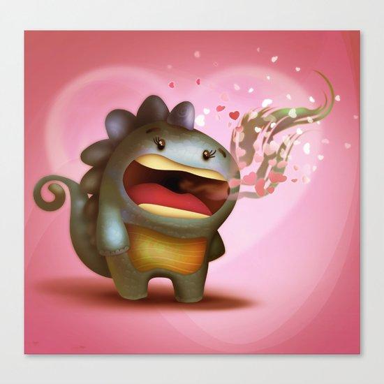Dragon Love Canvas Print