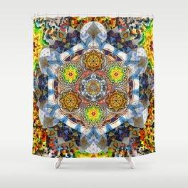 Upwards Redux - The Mandala Collection Shower Curtain