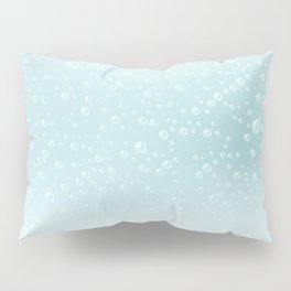 An illustration of the water bubbles background.  Pillow Sham