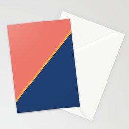 Pink & Rare Purple - 2 color oblique Stationery Cards