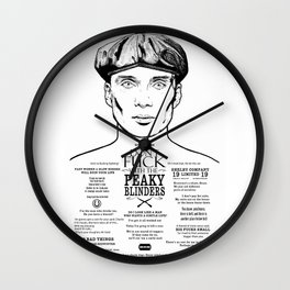 Peaky Blinders - Tattoo Tommy Shelby Wall Clock