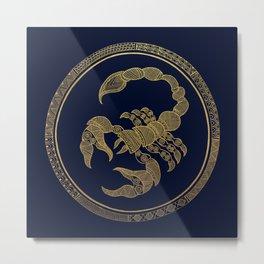 Golden Zodiac Series - Scorpio Metal Print