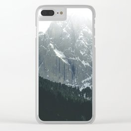 Scenic Mountains and Forest Clear iPhone Case