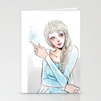elsa Stationery Cards featuring Elsa by The Radioactive Peach