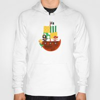 pirate ship Hoodies featuring pirate ship by Alapapaju