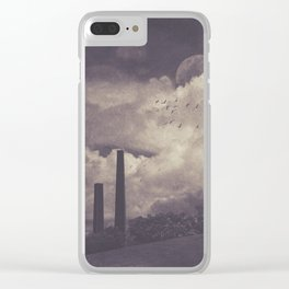 Brick works chimneys at Sydney Park Clear iPhone Case
