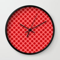 polka dot Wall Clocks featuring Polka dot by David Zydd