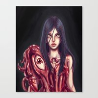 in the flesh Canvas Prints featuring Flesh Maiden by pandatails