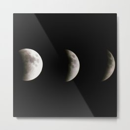stages of an eclipse Metal Print