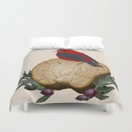 Bird on a Log Duvet Cover