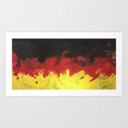 Germany Splatter Flag Art Print