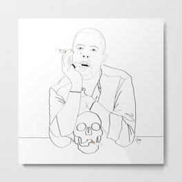 Alexander McQueen portrait Metal Print