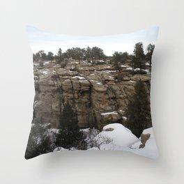 Castlewood Canyon I Throw Pillow