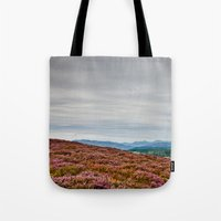 scotland Tote Bags featuring Scotland by janisratnieks