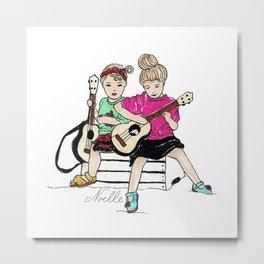 Strummin' Sisters Metal Print
