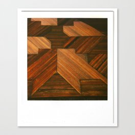 Wooden Star Canvas Print