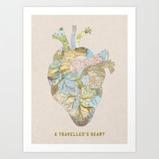 A Traveller's Heart (UK) Art Print
